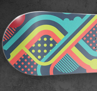 Bright Vector Snowboard Design