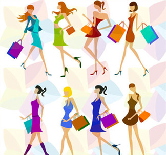 Female Shopper Characters (8 vectors)