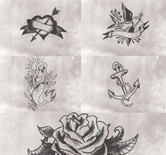 Vintage Tattoo Designs (5 vectors)