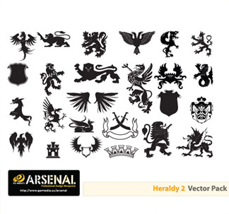 Heraldry Vector Pack (25 vectors)