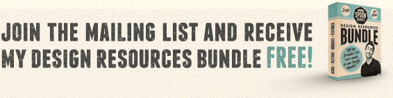 Join the mailing list and receive my design resources bundle FREE!