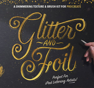 Glitter and Foil Procreate Kit