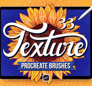 Textured Finish Procreate Brushes