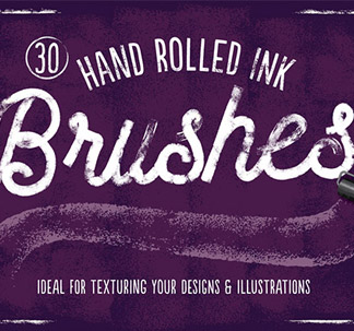 30 Hand Rolled Ink Brushes