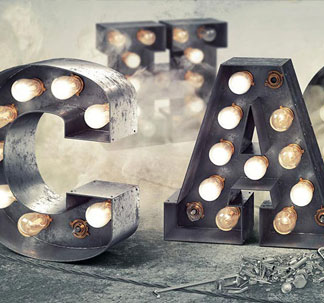3D Marquee Light Bulb Letters