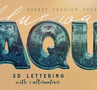 Aqua 3D Letters