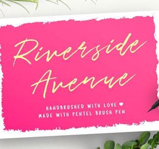 Riverside Avenue Brush Font