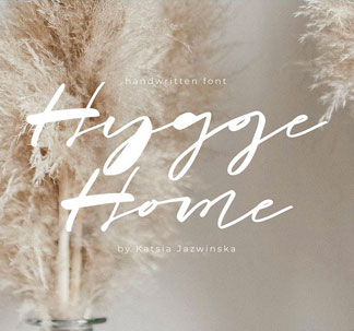 Hygge Home Signature Font
