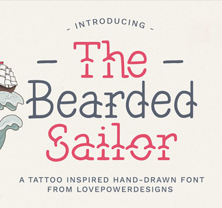 The Bearded Sailor Tattoo Inspired Font