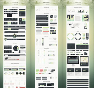 Exotico Complete UI Kit