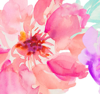 48 Watercolour Flowers