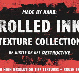20 Rolled Ink Textures