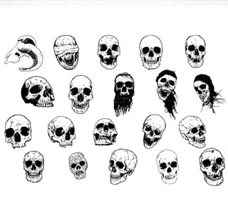 Hand-Drawn Skulls Pack (20 vectors)