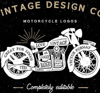 Vintage Motorcycle Logos (11 vectors)