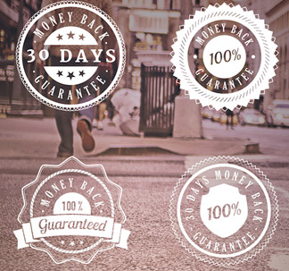 Vintage Guarantee Badges (6 vectors)