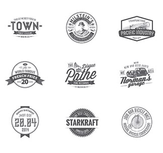 Vintage Logo Templates (50 vectors)