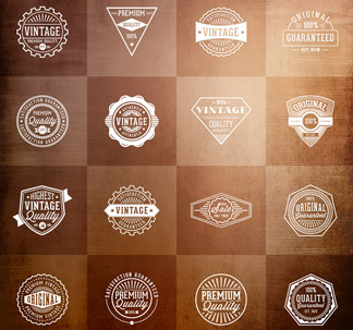 Vintage Vector Badges (16 Vectors)