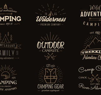 Outdoor Vintage Labels and Logo (12 vectors)