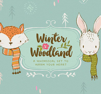 Winter Woodland Illustration Kit
