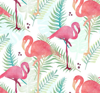 Tropical Flamingo Patterns & Graphics