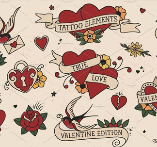 Love Edition Tattoo Elements