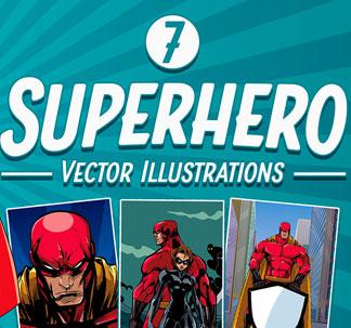 Superhero Vector Illustrations