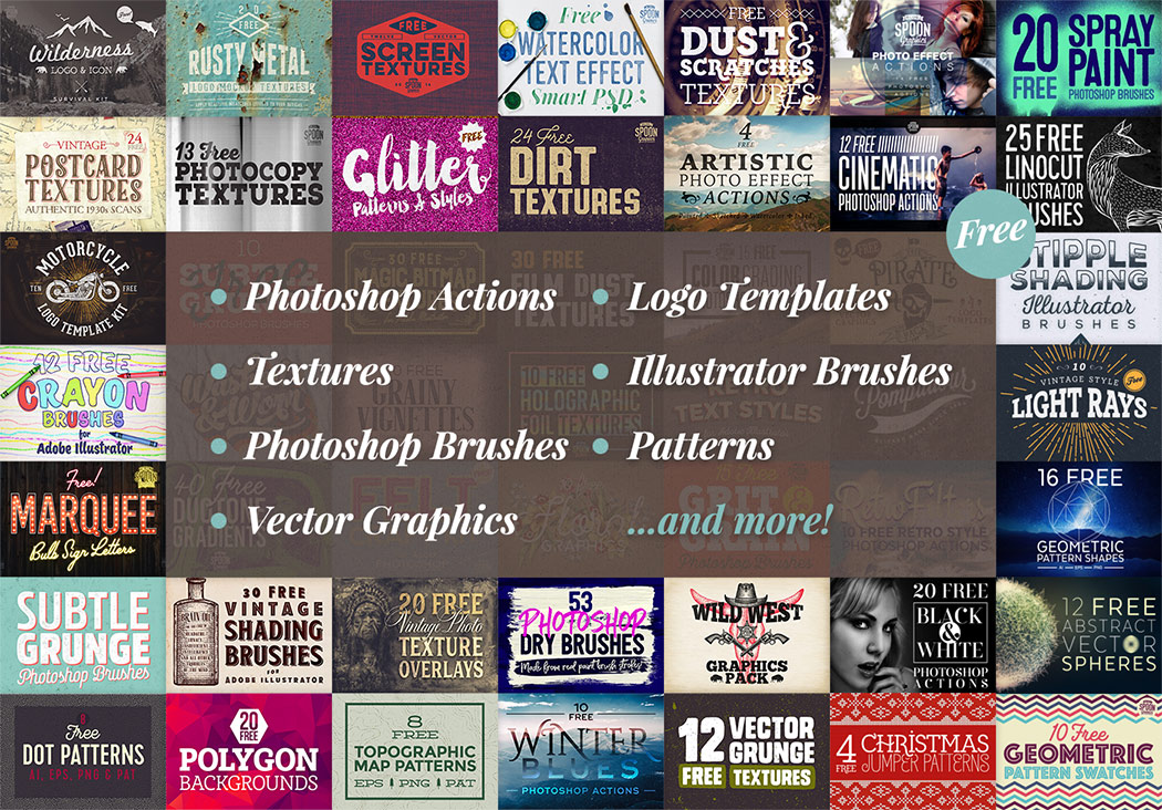 Spoon Graphics free bundle contents