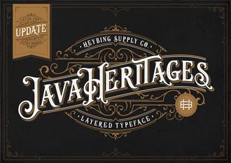 Java Heritages font