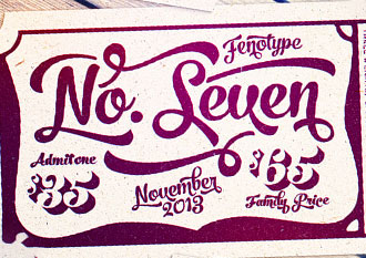 No. Seven font