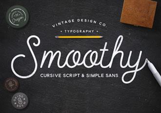 Smoothy Script & Sans fonts