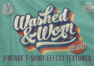 Washed & Worn Deluxe Vintage T-Shirt Textures Pack