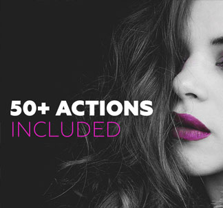 50+ Black & White Actions Pack