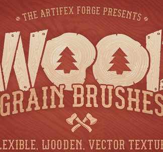 18 Wood Grain Illustrator Brushes
