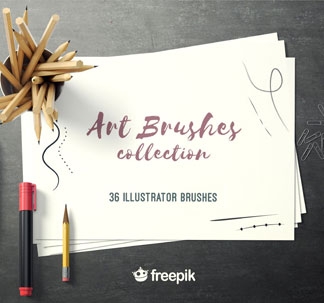 Illustrator Art Brushes Collection