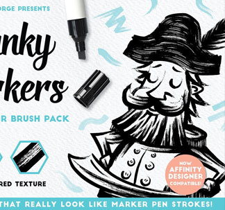Chunky Marker Illustrator Brushes