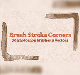 30 Brush Stroke Corner Brushes