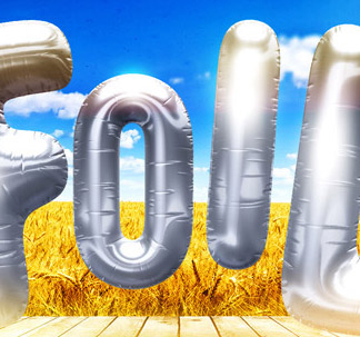 3D Foil Balloon Lettering