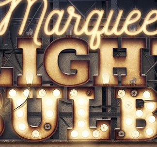 Marquee Light Bulb Letters