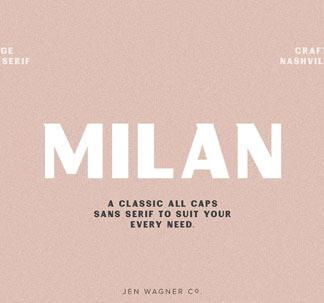 Milan Vintage Sans-Serif Font
