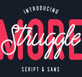 Struggle More Font Duo