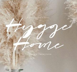 Hygge Home Signature Font