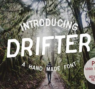 Drifter Font & Logo Kit