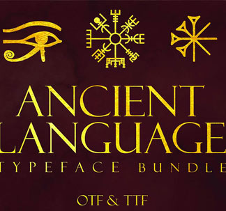 Ancient and Futuristic Fonts Bundle