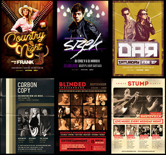 6 Music Themed Flyer Templates