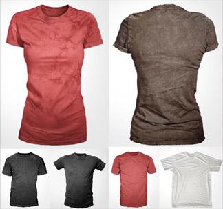 6 T-Shirt Mockup Templates