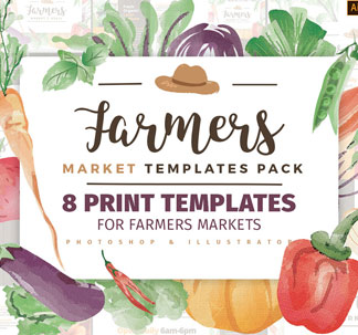 Farmers Market Print Design Templates