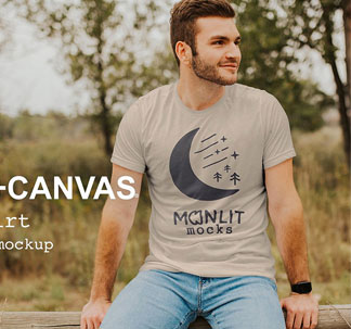 Men's T-Shirt Photoshop Mockup