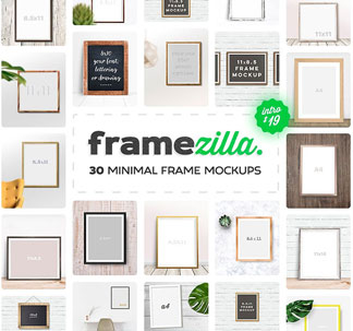 30 Minimal Frame Mockups