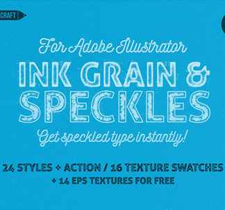 Ink Grain and Speckles for Illustrator
