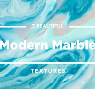 7 Aqua Modern Marble Textures